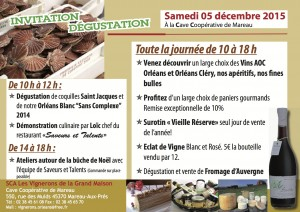 Invitation dégustation St Jacques 2015