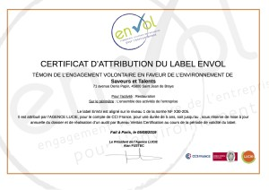 S&T - certificat attribution EnVol